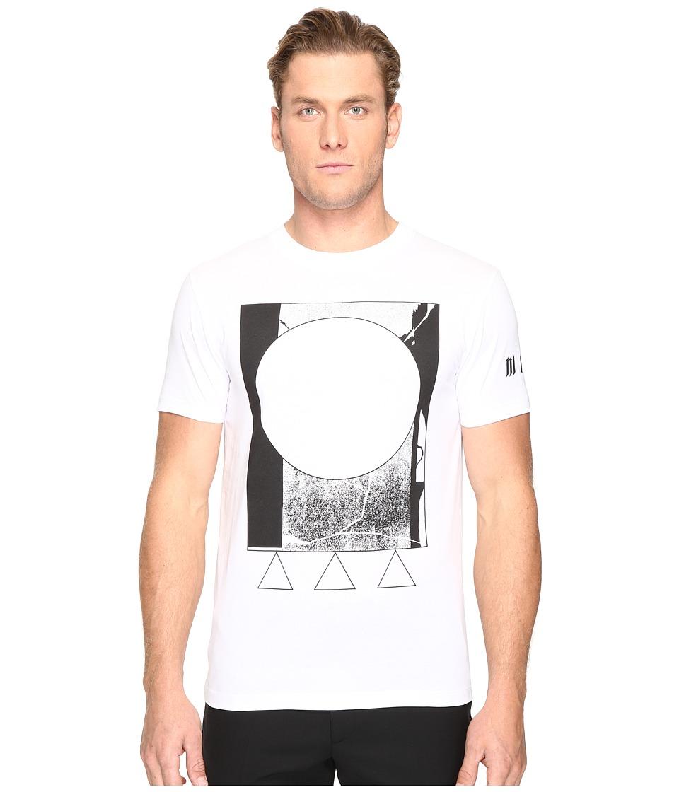 McQ - Abstract Short Sleeve T-Shirt (Optic White) Men's T Shirt