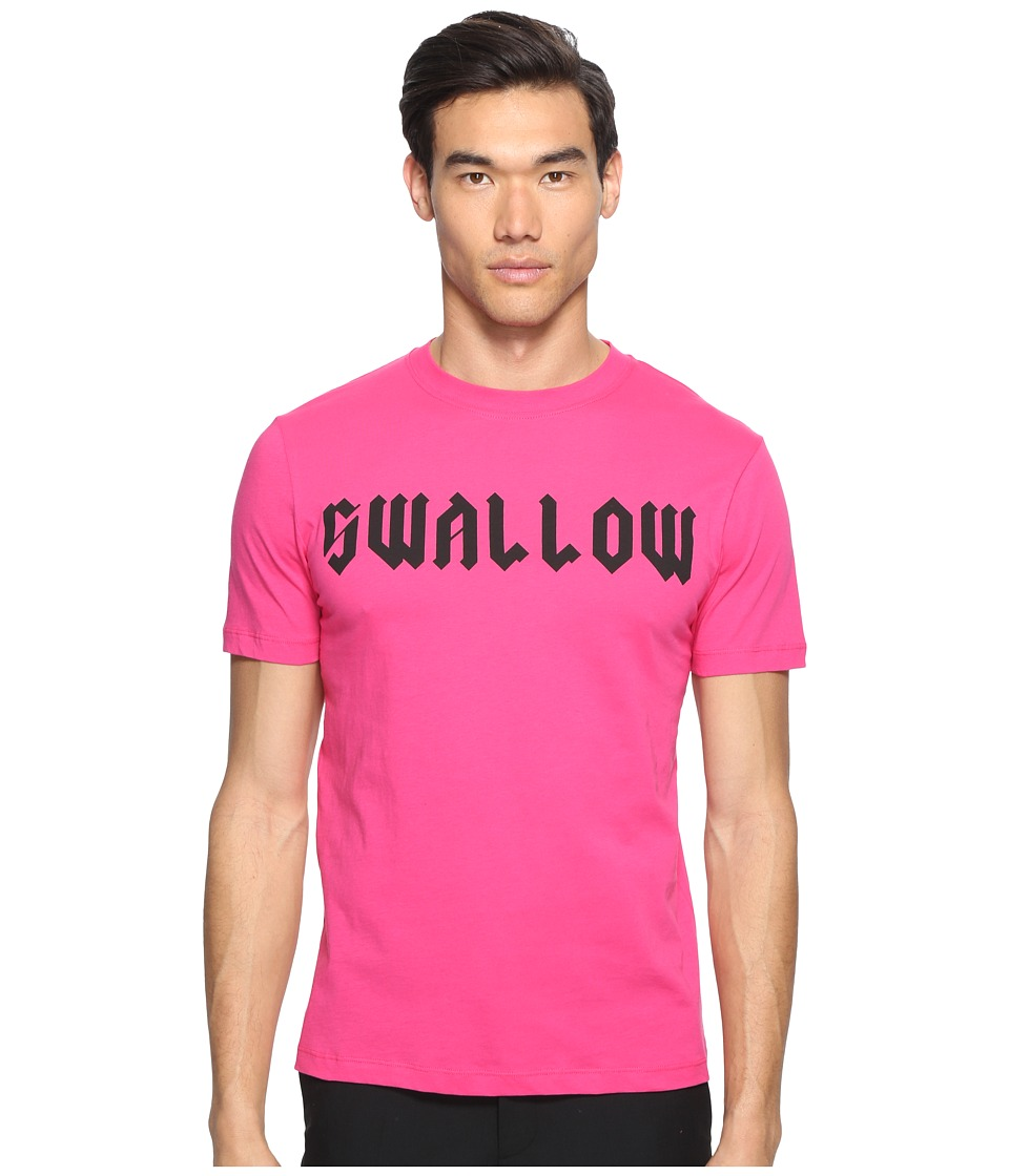 McQ - Gothic Swallow Short Sleeve T-Shirt (Iconic Pink) Men's T Shirt
