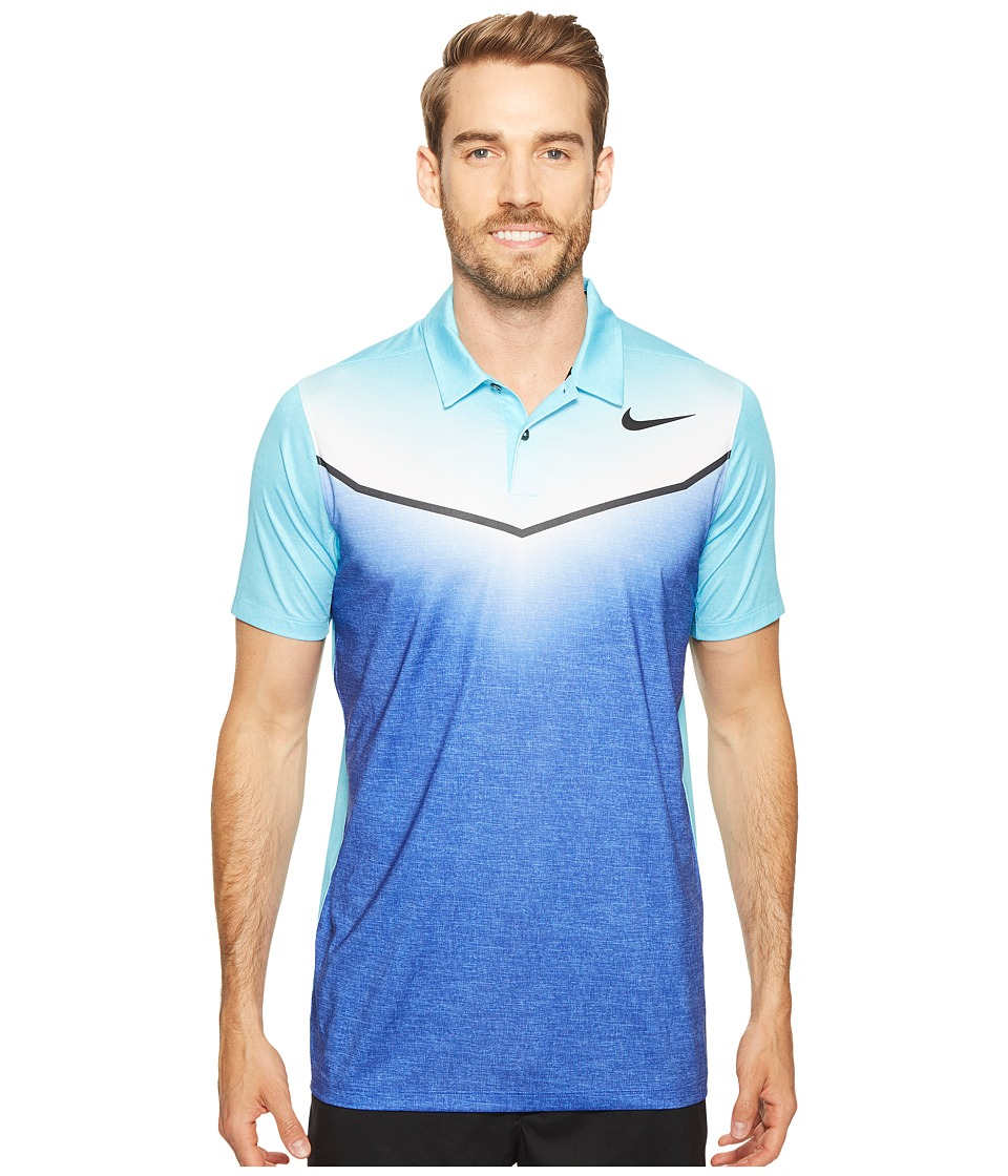 Nike Golf - Mobility Fade Polo (Paramount Blue/Vivid Sky/Anthracite/Black) Men's Short Sleeve Pullover
