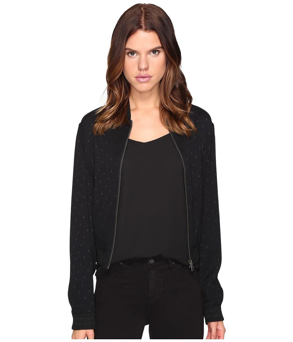 Just Cavalli - Dolly Parton Zip-Up Jacket (Black) Women's Coat