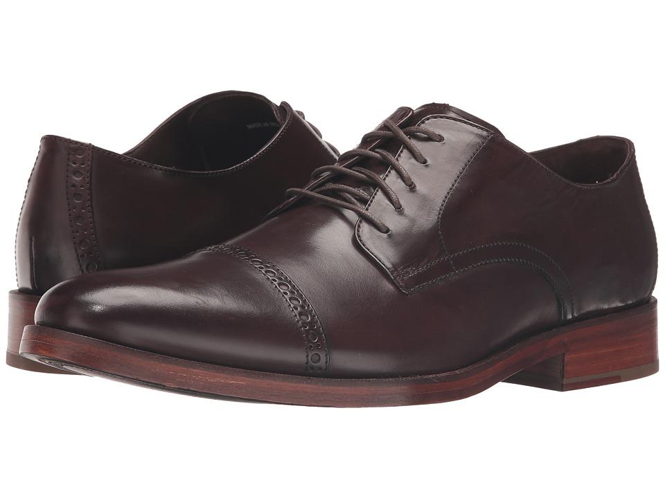 Cole Haan - Preston Grand Cap (Dark Brown) Men's Lace up casual Shoes