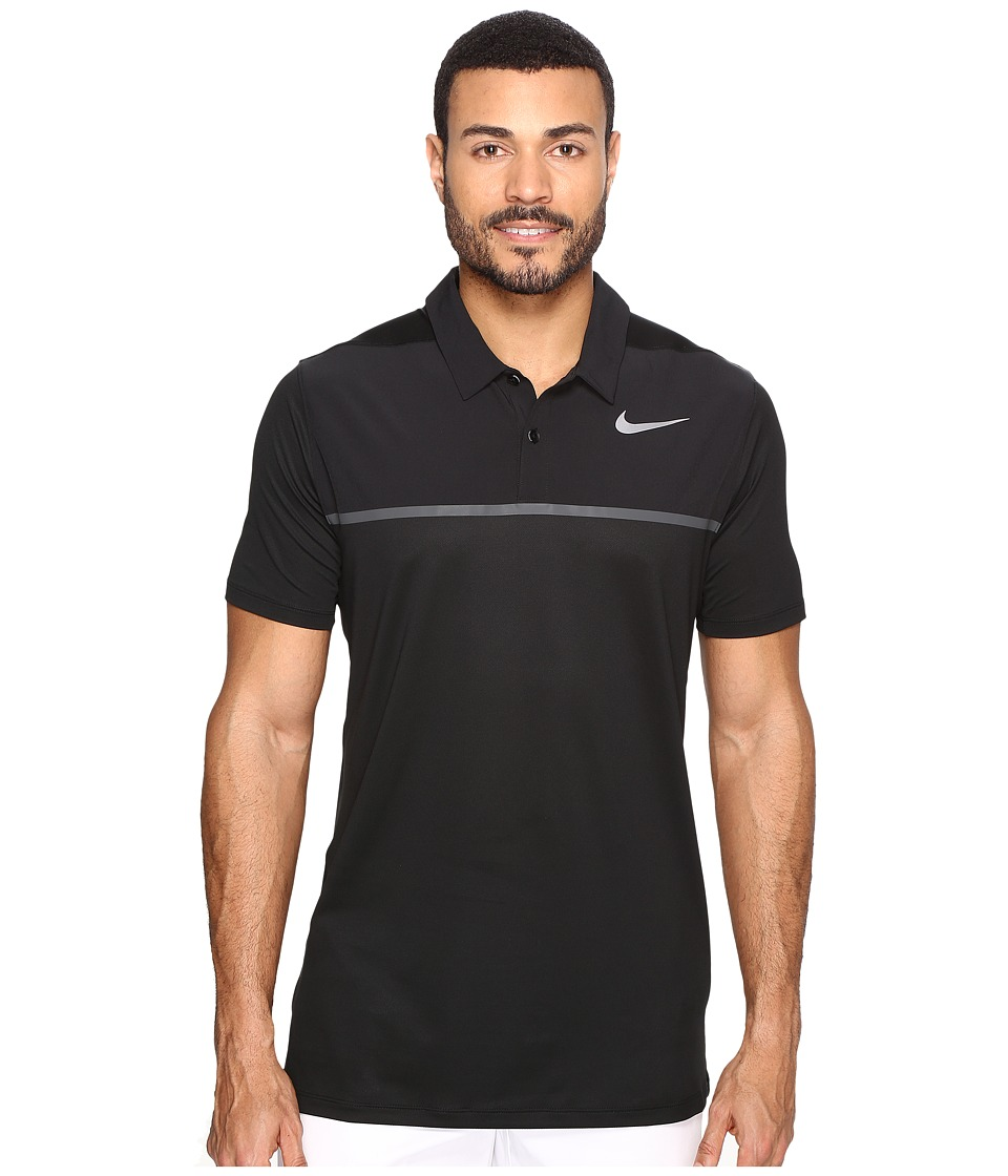 Nike Golf - Mobility Precision Polo (Black/Black/Anthracite/Flat Silver) Men's Short Sleeve Pullover