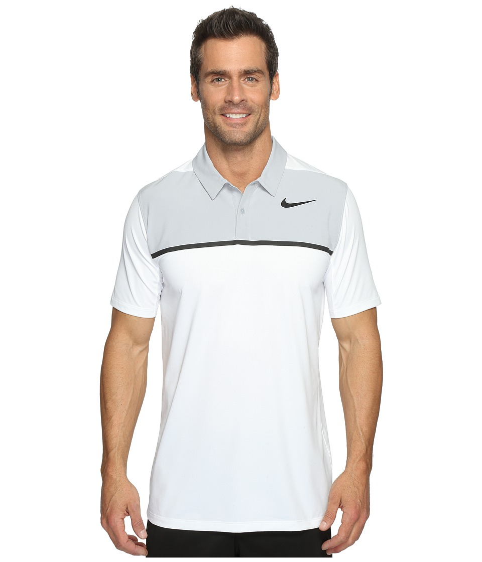 Nike Golf - Mobility Precision Polo (White/Wolf Grey/Black/Black) Men's Short Sleeve Pullover
