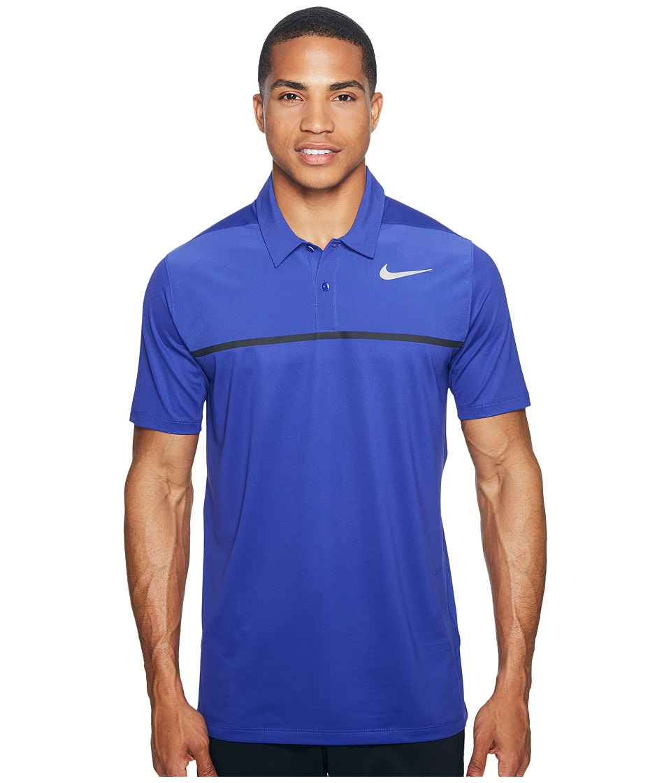 Nike Golf - Mobility Precision Polo (Deep Night/Deep Night/Black/Flat Silver) Men's Short Sleeve Pullover