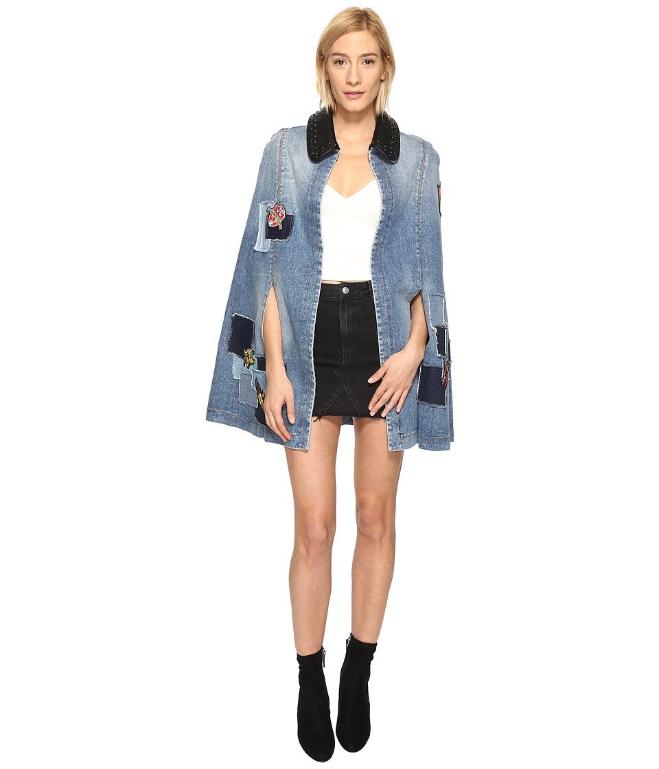 Just Cavalli - Patchwork Cape (Denim) Women's Clothing