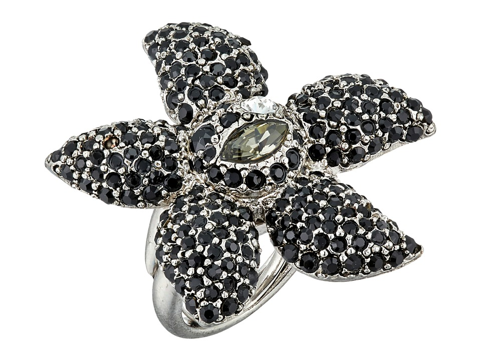 Oscar de la Renta - Tropical Bloom Ring (Black Diamond) Ring