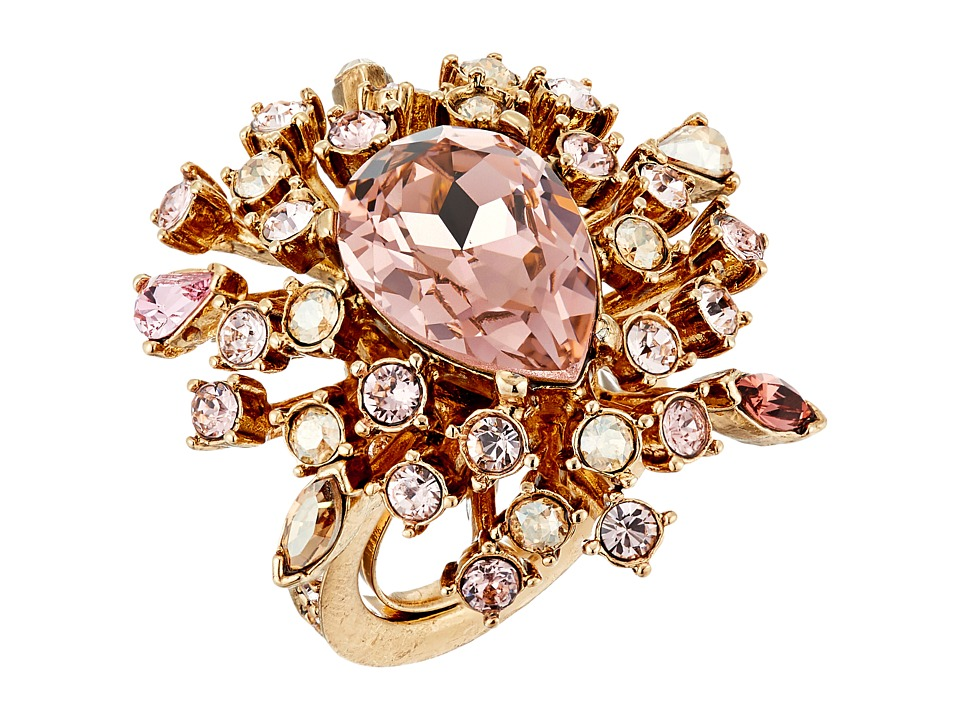 Oscar de la Renta - Tiered Crystal Ring (Silk) Ring
