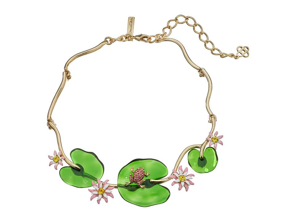 Oscar de la Renta - Resin Lily Necklace (Multi) Necklace