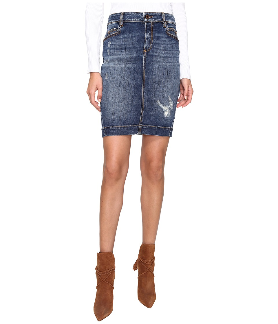 Just Cavalli - Star Skirt (Denim) Women's Skirt