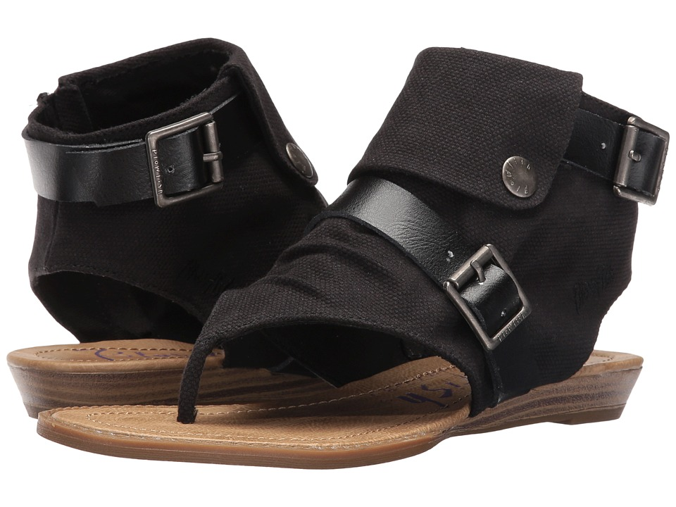 Blowfish - Blume (Black Rancher Canvas/Dyecut PU) Women's Sandals