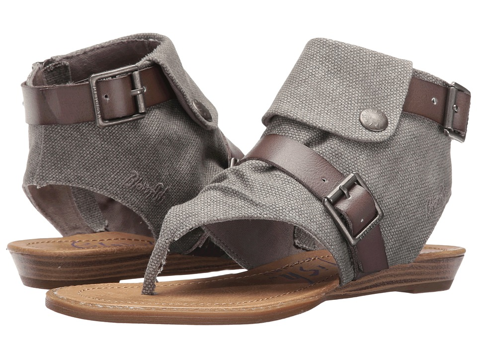 Blowfish - Blume (Steel Grey Rancher/Grey Dyecut PU) Women's Sandals