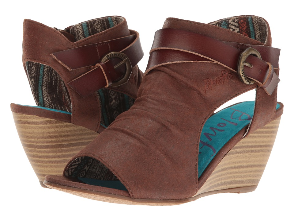 Blowfish - Budha (Whiskey Draped Microfiber/Whiskey Dyecut) Women's Wedge Shoes