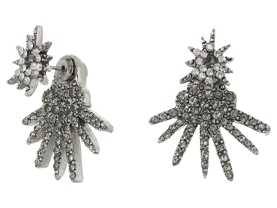 Oscar de la Renta - Celestial Star Back Drop P Earrings (Cry Shade/Silver) Earring