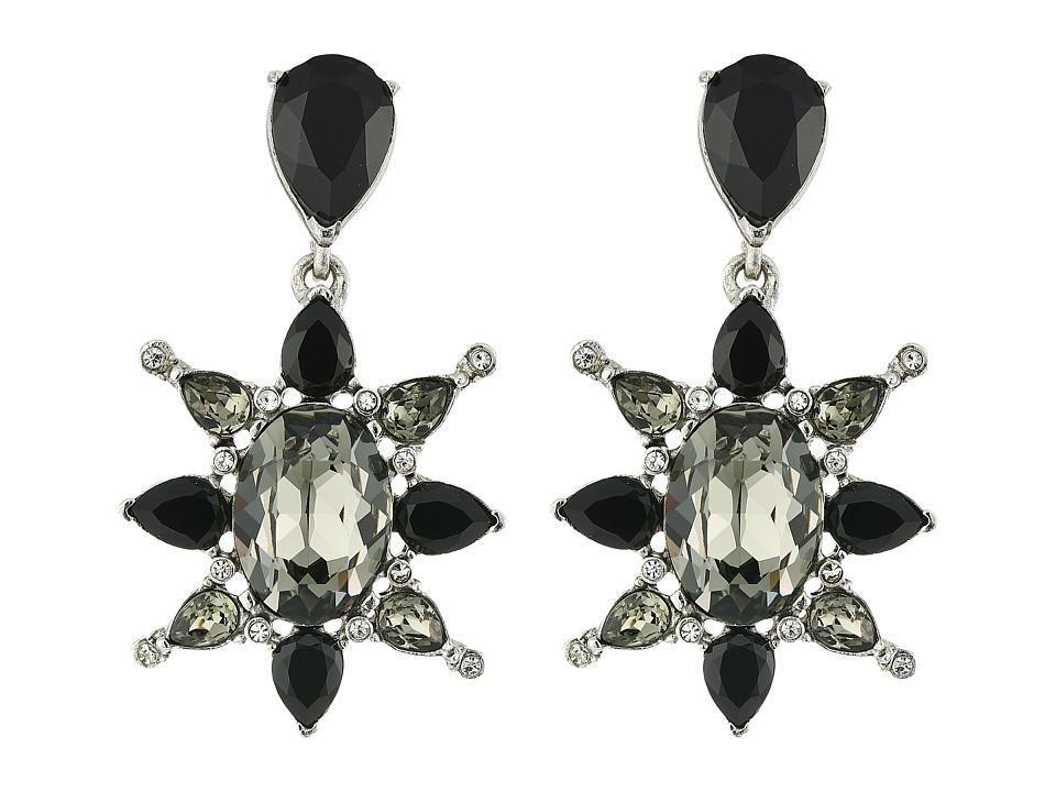 Oscar de la Renta - Tropical Bloom Star C Earrings (Black Diamond) Earring