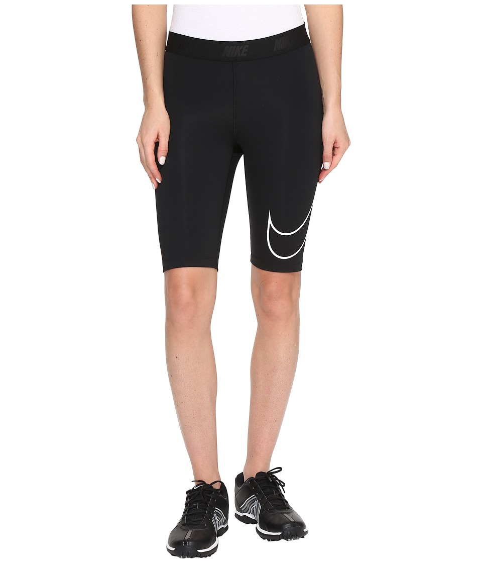 Nike Golf - Swoosh Bike Shorts (Black/White) Women's Shorts