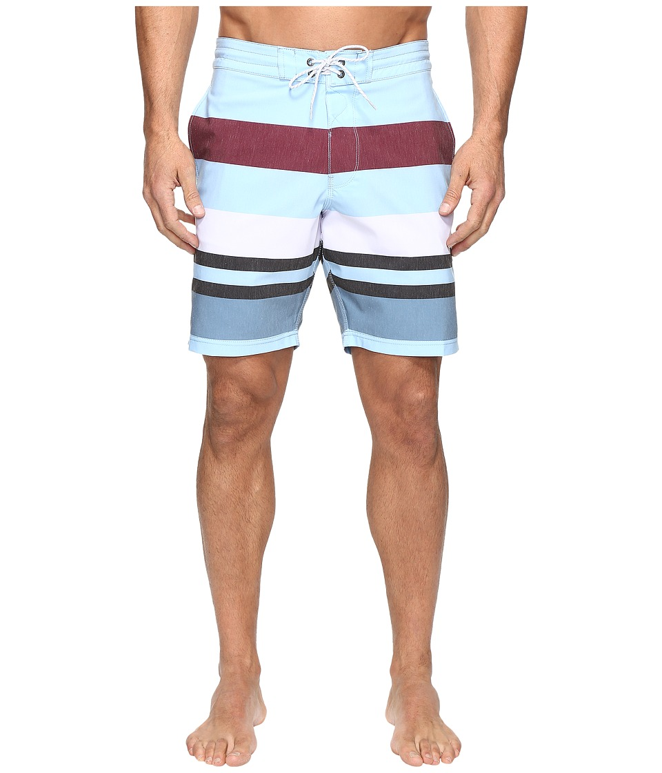 VISSLA - Kooktown Washed 4-Way Stretch Boardshorts 18.5 (Ice Blue) Men's Swimwear