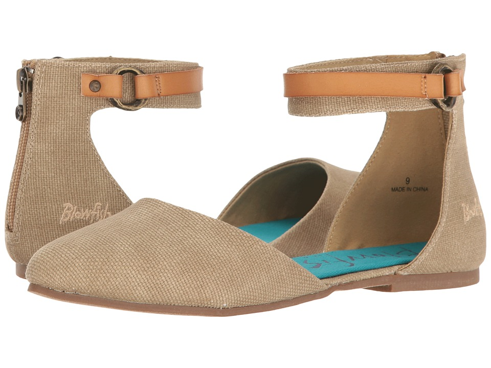 Blowfish - Zate (Desert Sand Rancher Canvas/Dyecut PU) Women's Flat Shoes