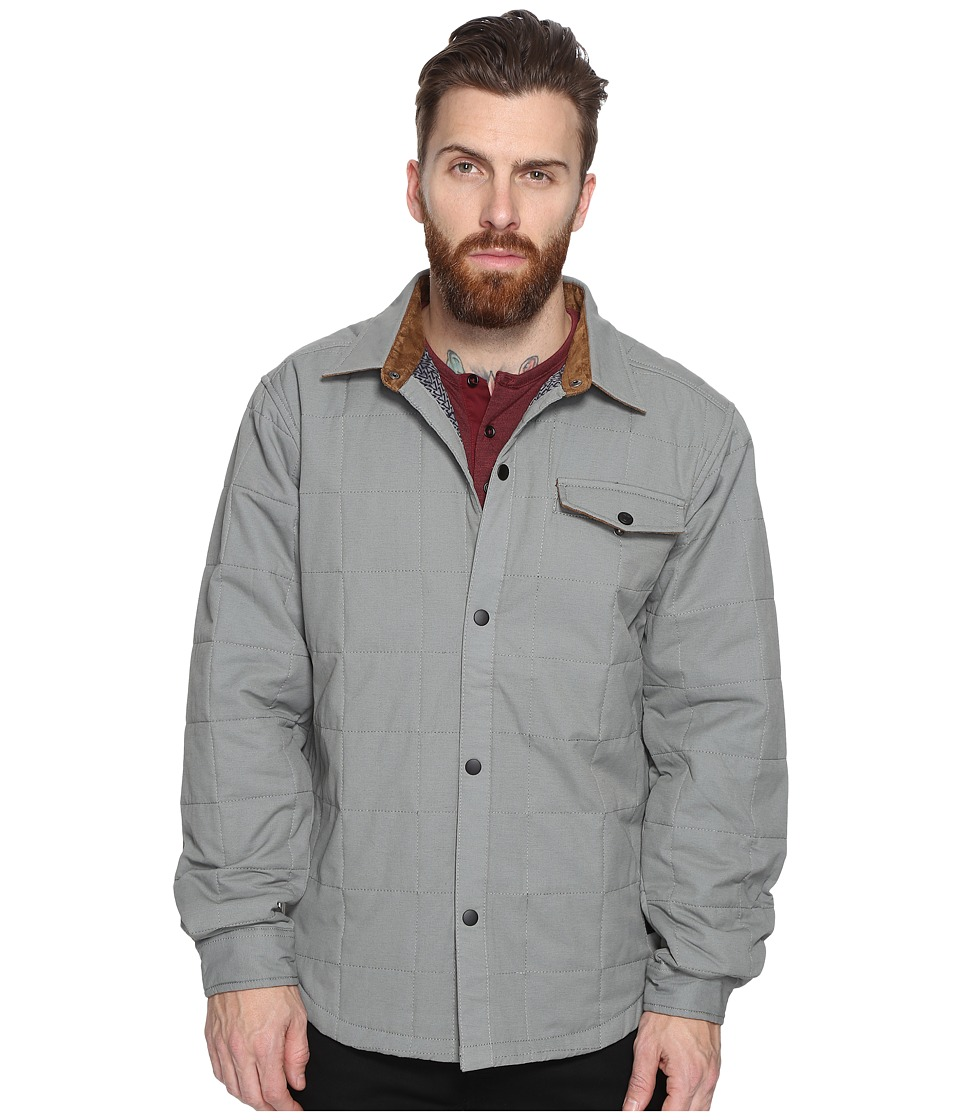 VISSLA - Cronkhite 100% Cotton Shirt Jacket (Steel) Men's Coat