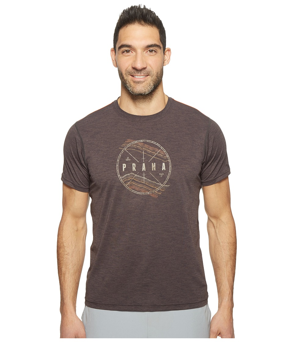 Prana Calder Short Sleeve Tee (Charcoal) Men