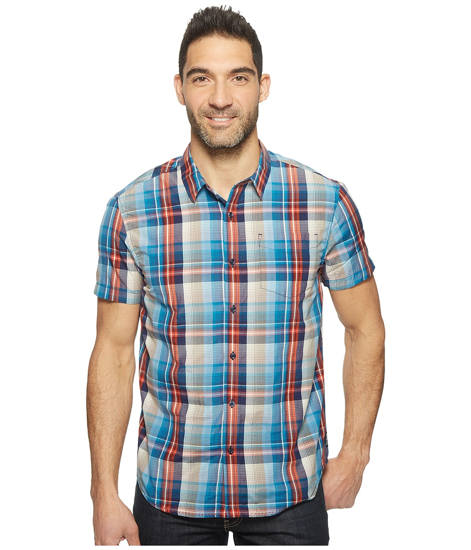 Prana - Ecto (Mood Indigo) Men's Short Sleeve Button Up