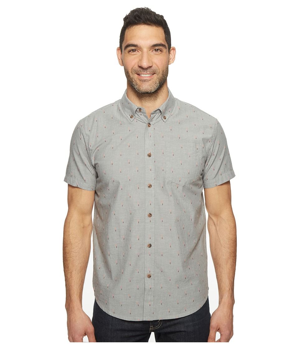 Prana - Broderick Standard (Gravel) Men's Short Sleeve Button Up