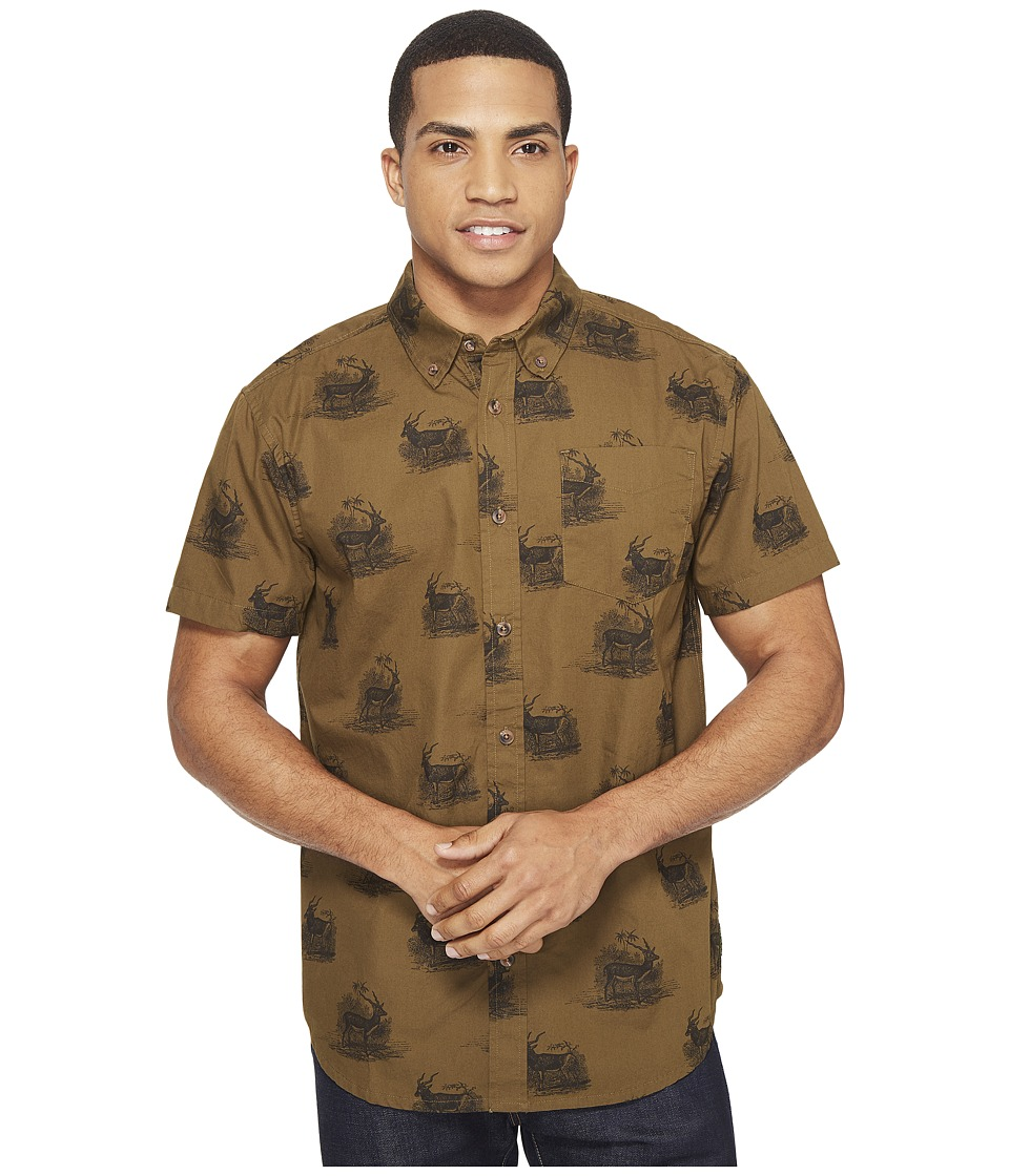 Prana - Broderick Standard (Hazel) Men's Short Sleeve Button Up