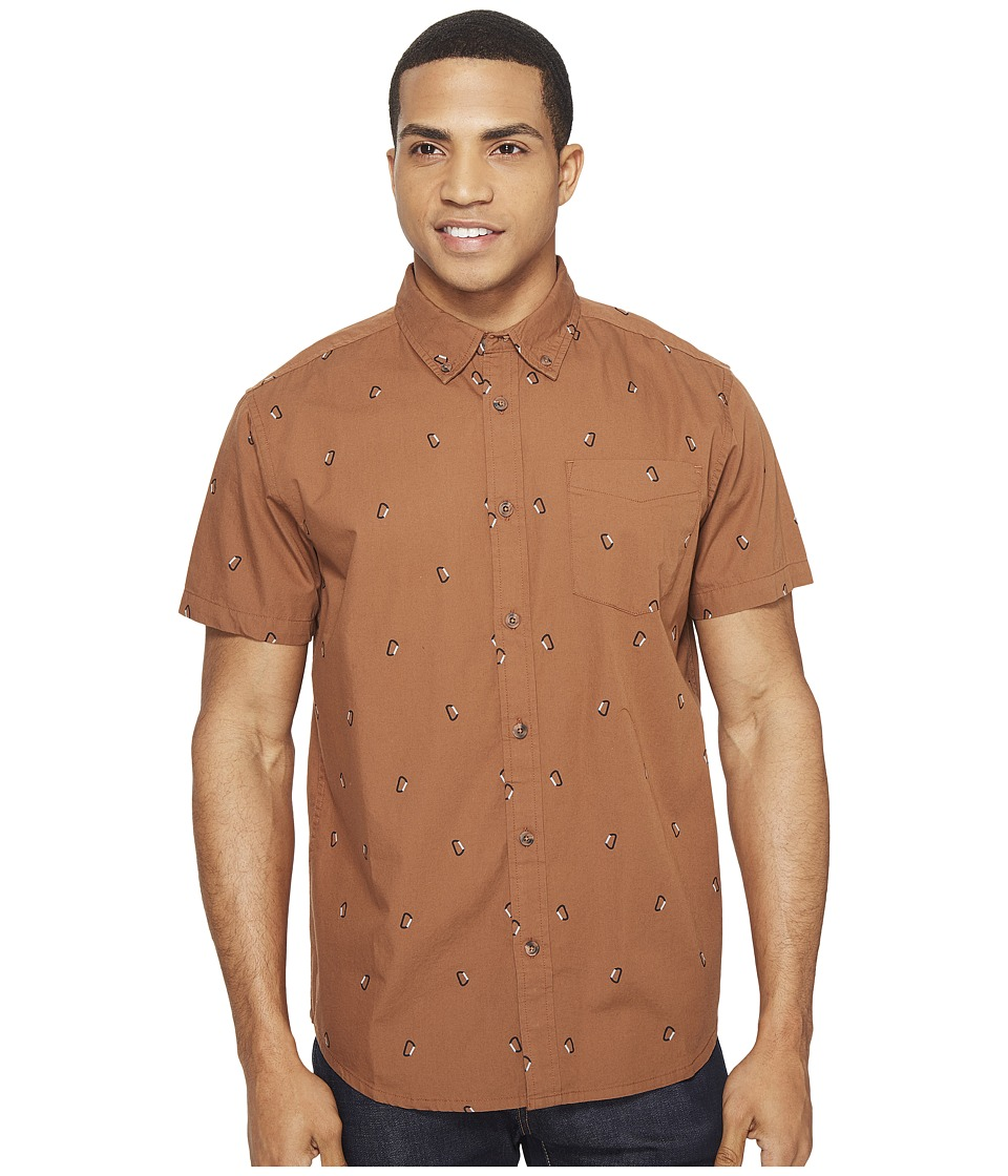 Prana - Broderick Standard (Tree Bark) Men's Short Sleeve Button Up