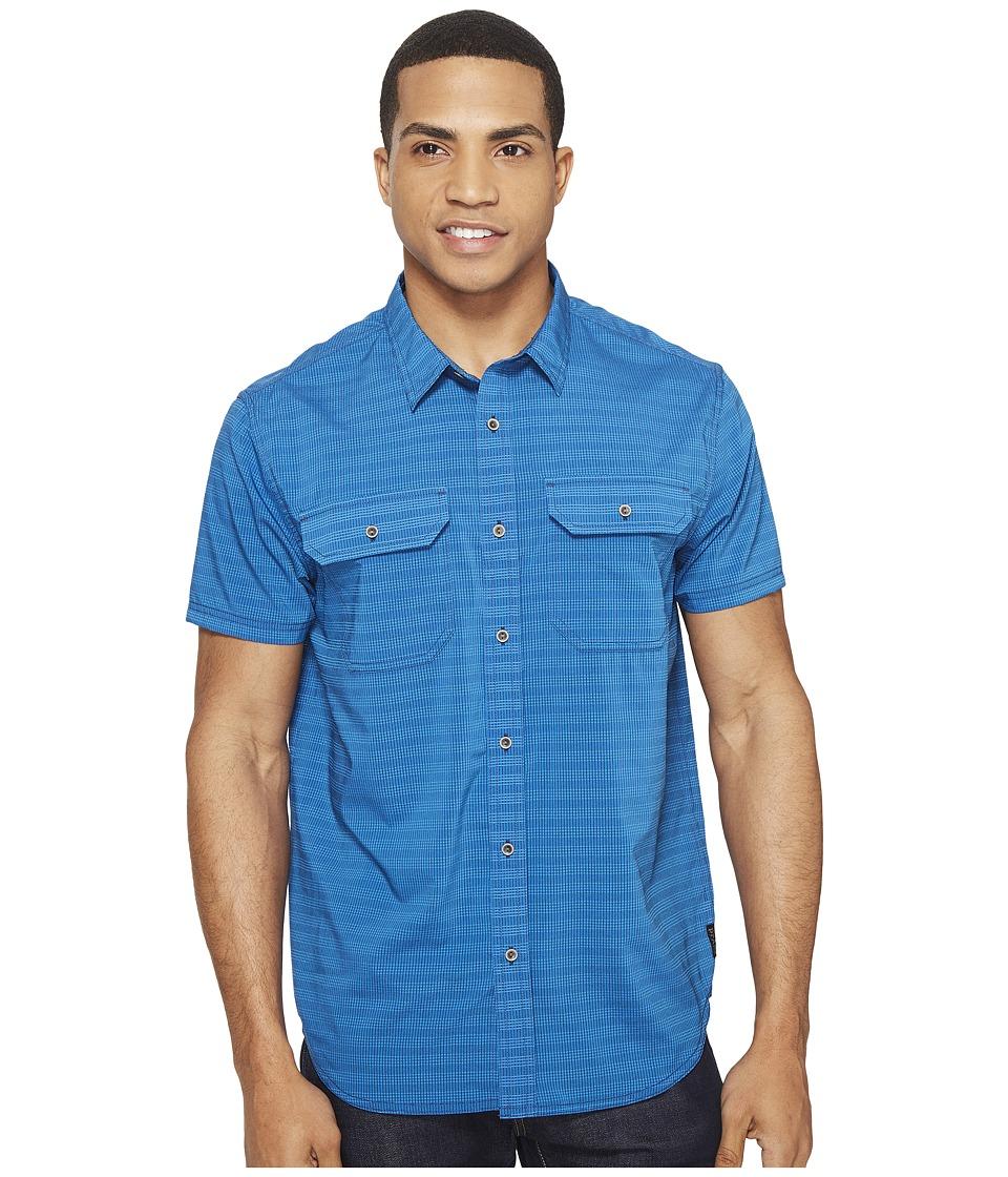Prana - Cayman (Vortex Blue) Men's Short Sleeve Button Up