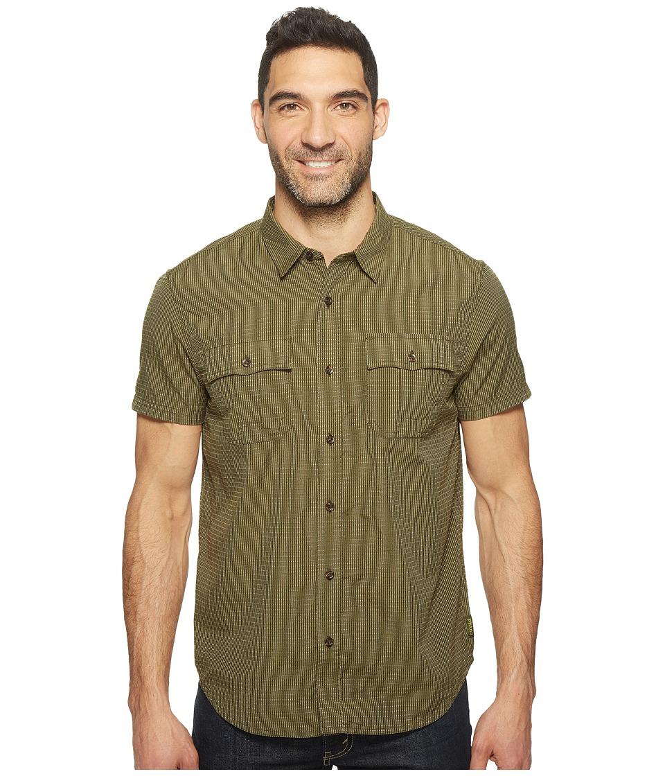 Prana - Ostend (Cargo Green) Men's Short Sleeve Button Up