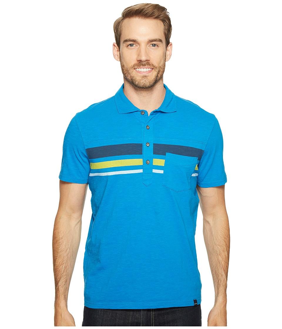 Prana - Slugger Polo (Vortex Blue) Men's Clothing