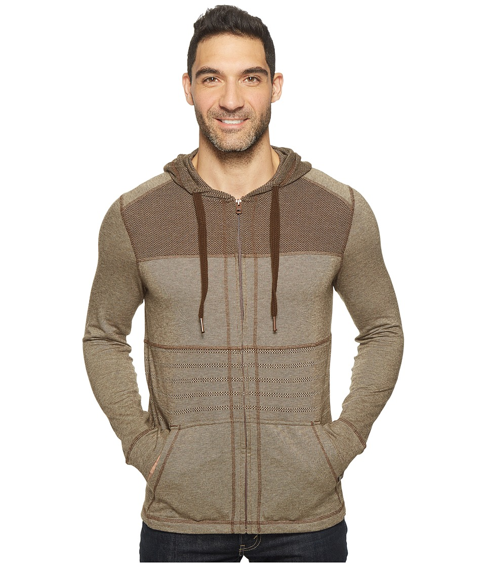 Prana - Introit Full Zip Hoodie (Brown) Men's Sweatshirt