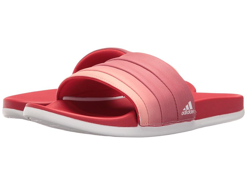 adidas Adilette Cloudfoam Ultra Armad (Scarlet/Footwear White/Haze Coral) Women