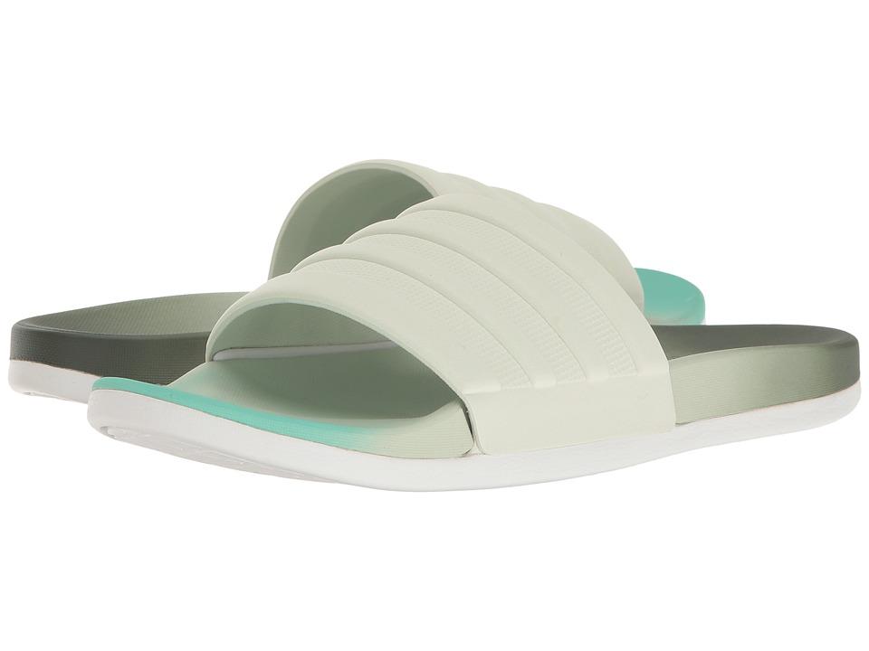 adidas - Adilette Cloudfoam Ultra Fade (Utility Ivy/Linen Green/Easy Green) Women's Slide Shoes