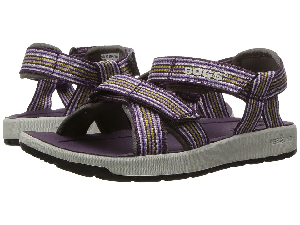 Bogs Kids - Rio Stripes Sandal (Toddler/Little Kid/Big Kid) (Grape Multi) Girls Shoes