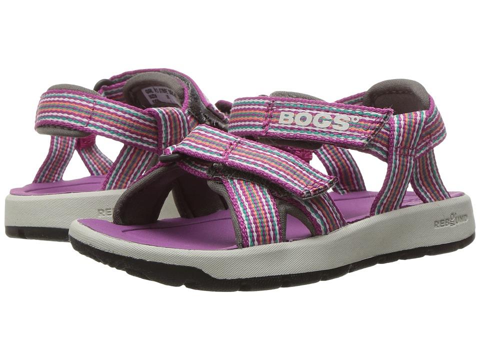 Bogs Kids - Rio Stripes Sandal (Toddler/Little Kid/Big Kid) (Berry Multi) Girls Shoes