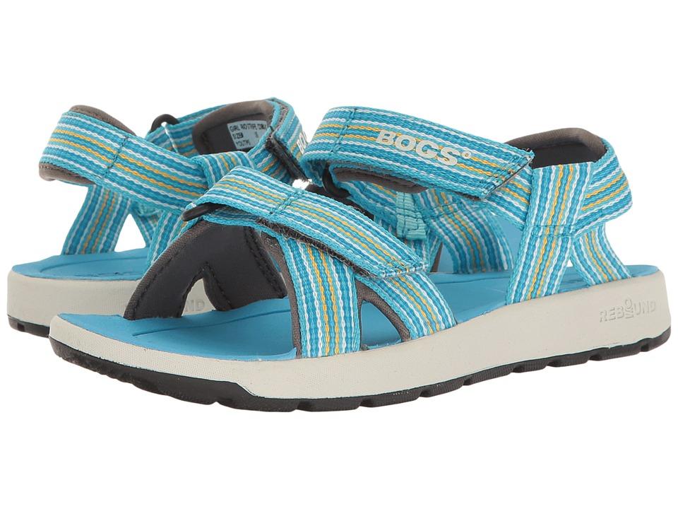 Bogs Kids - Rio Stripes Sandal (Toddler/Little Kid/Big Kid) (Light Blue Multi) Girls Shoes