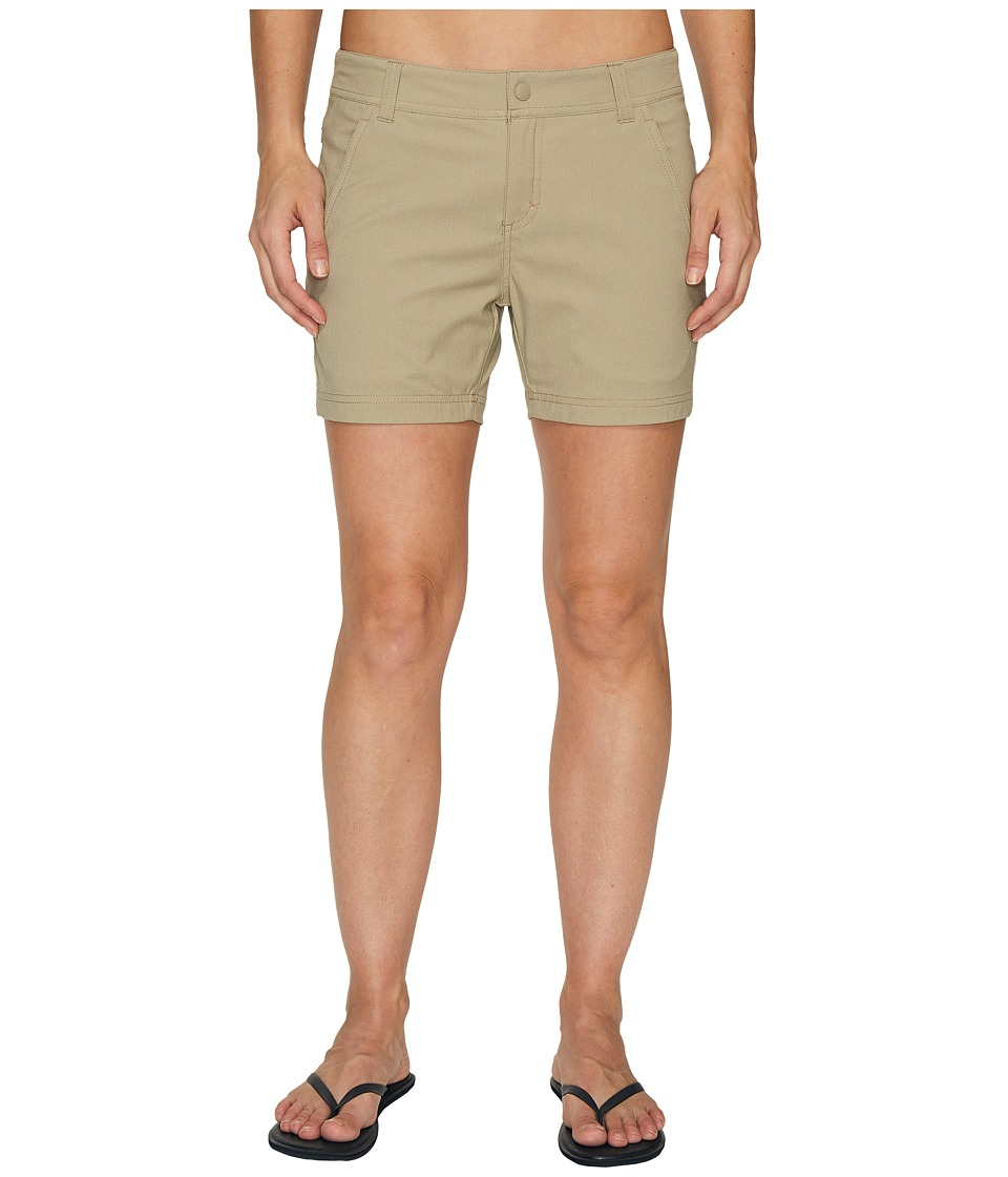 Royal Robbins - Alpine Road Shorts 5 (Khaki) Women's Shorts