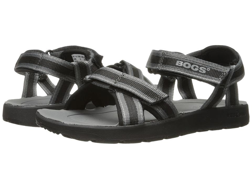 Bogs Kids Rio Stripes Sandal (Toddler/Little Kid/Big Kid) (Black Multi) Boys Shoes