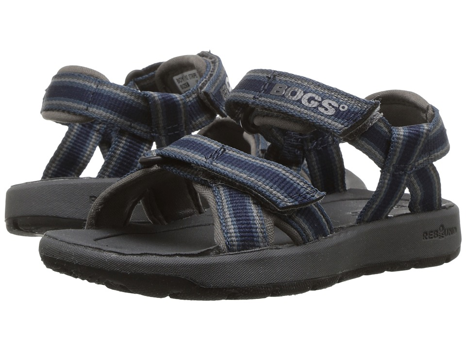 Bogs Kids Rio Stripes Sandal (Toddler/Little Kid/Big Kid) (Navy Multi) Boys Shoes