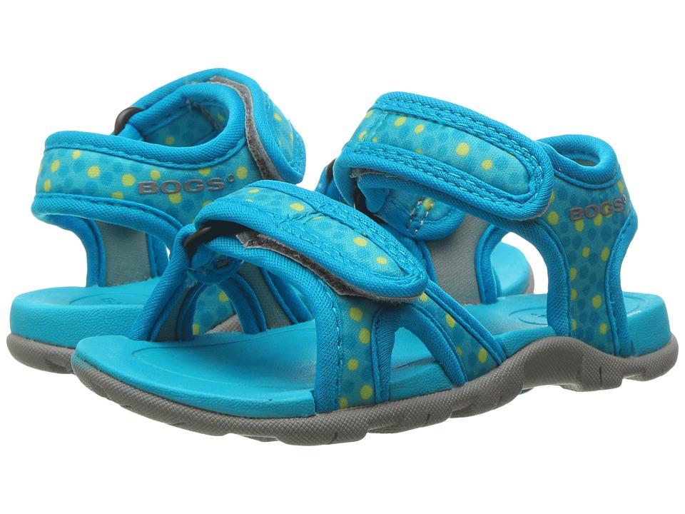 Bogs Kids Whitefish Dots Sandal (Toddler/Little Kid) (Light Blue Multi) Girls Shoes