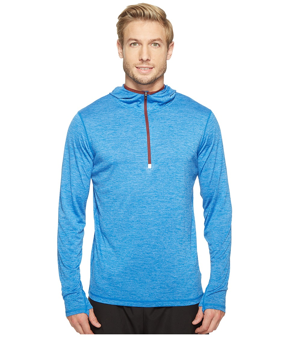 Prana - Hardesty Hooded 1/4 Zip (Future Blue) Men's Sweatshirt