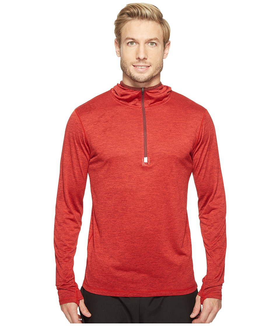 Prana - Hardesty Hooded 1/4 Zip (Raisin) Men's Sweatshirt