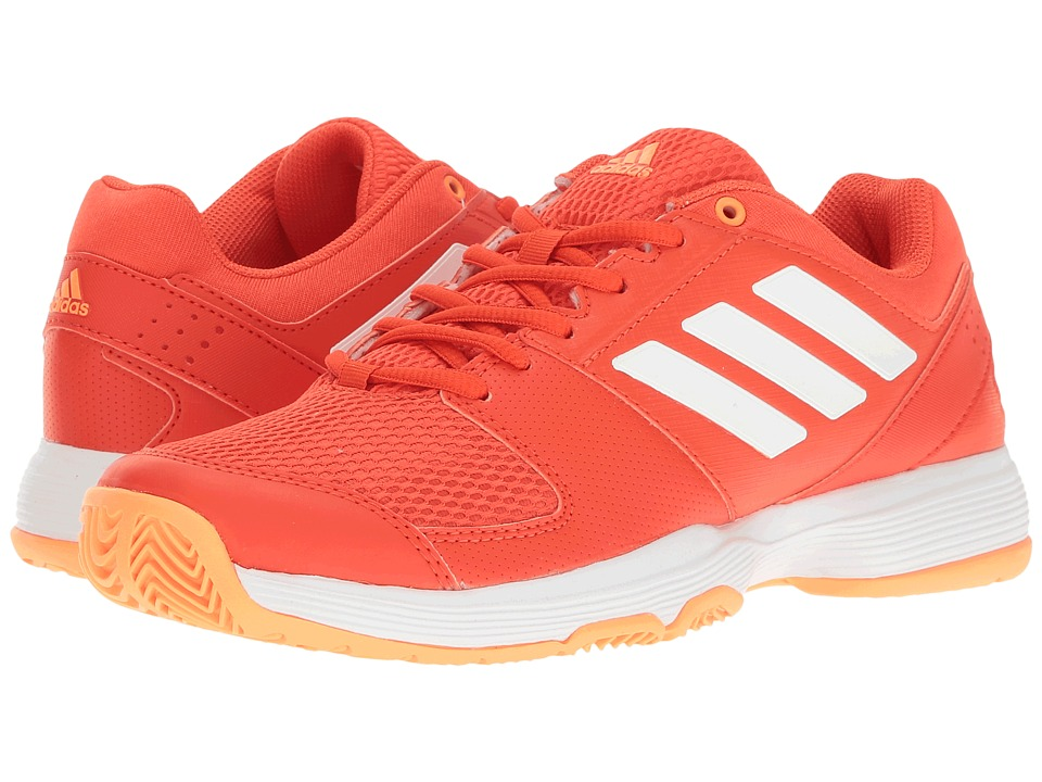 adidas - Barricade Court (Core Pink/Footwear White/Haze Coral) Women's Tennis Shoes