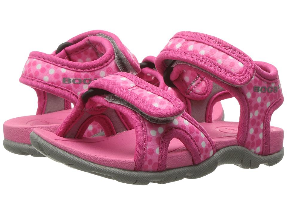 Bogs Kids Whitefish Dots Sandal (Toddler) (Pink Multi) Girls Shoes