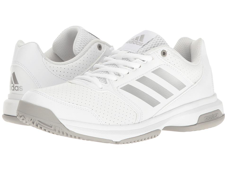 adidas - Adizero Attack (Footwear White/Silver Metallic/MGH Solid Grey) Women's Tennis Shoes