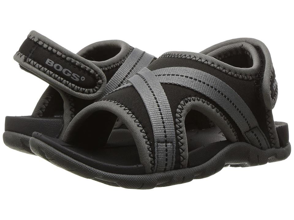 Bogs Kids Keegan (Toddler/Little Kid) (Black Multi) Boys Shoes