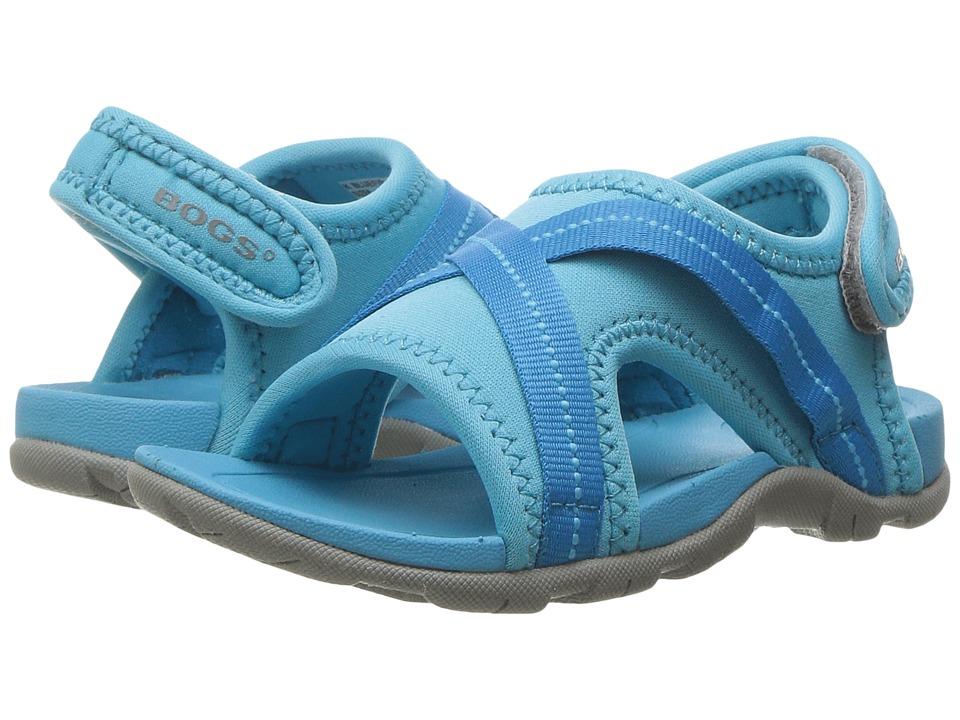 Bogs Kids - Bluefish Sandal (Toddler/Little Kid) (Light Blue Multi) Kids Shoes