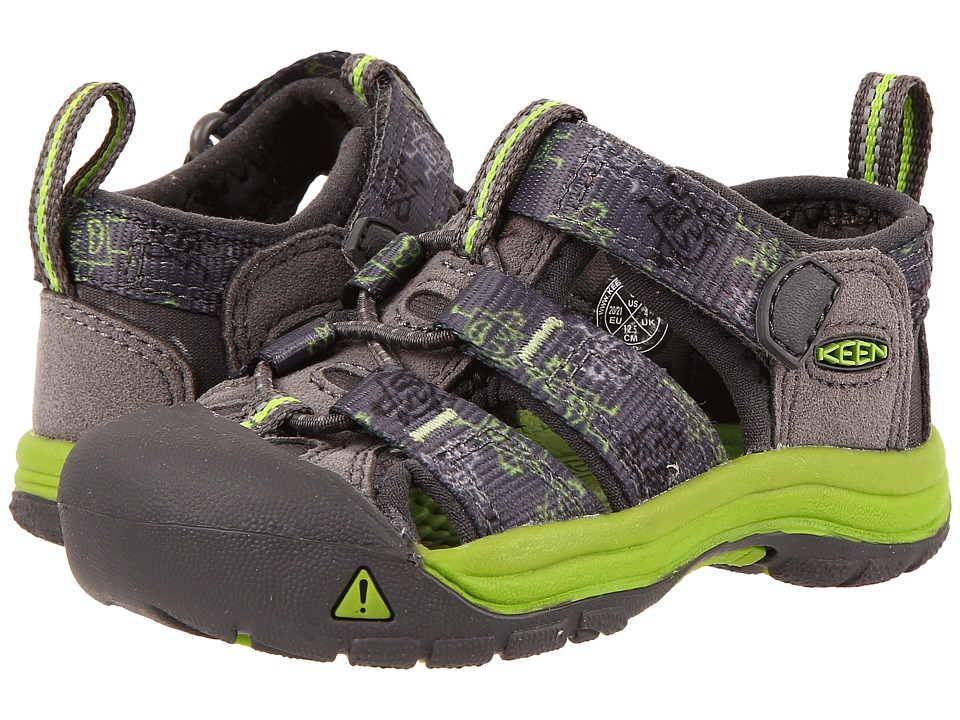 Keen Kids - Newport H2 (Toddler) (Gargoyle Monsters) Boys Shoes