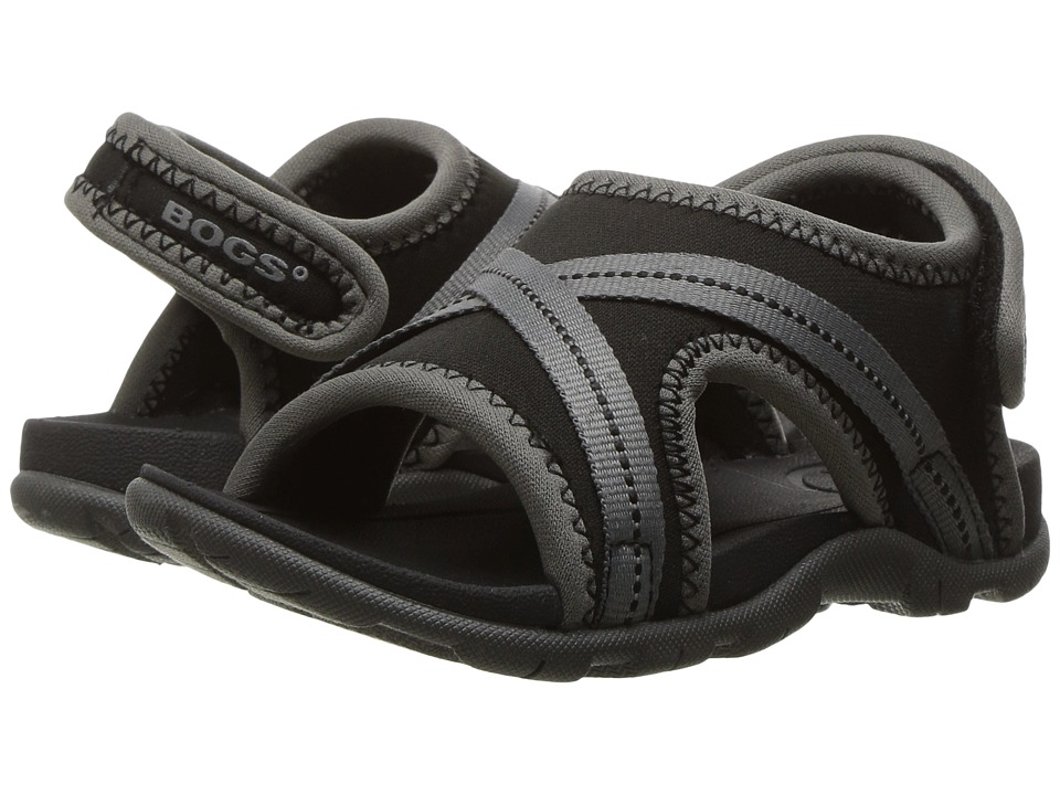 Bogs Kids - Bluefish Sandal (Toddler) (Black Multi) Boys Shoes