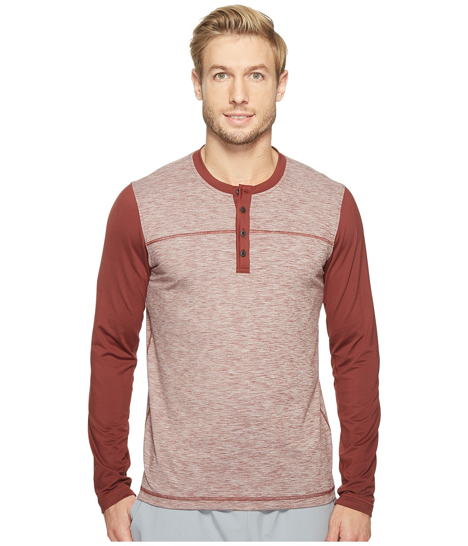 Prana Zylo Henley (Raisin Color Block) Men